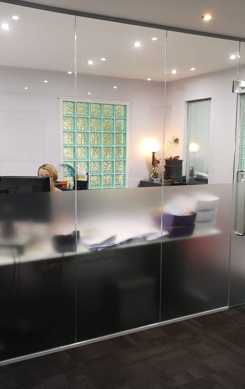 Elevations, Frameless Glass Partitions