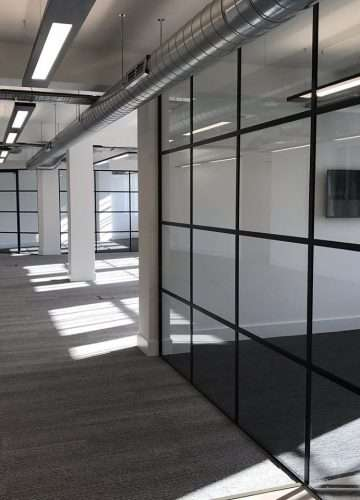 Framed Glass Partitioning