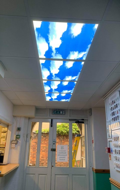 Suspended Ceiling Led Skylights Installation